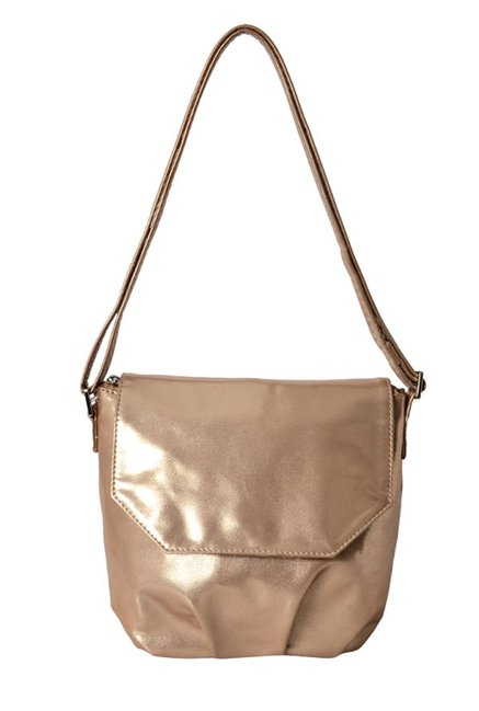 ff47519d61d4 Buy Baggit LX5 Tug Deep Rose Gold Solid Flap Sling Bag For Women At Best  Price   Tata CLiQ