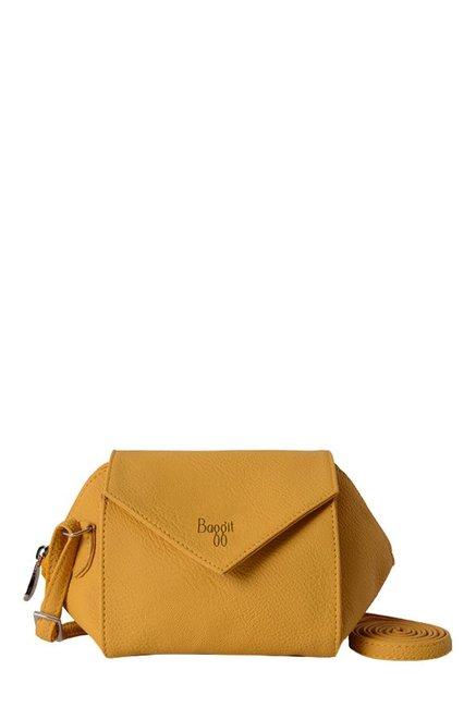 f8b4948103d9 Buy Baggit LMPO Petal Krispa Mango Yellow Trapeze Sling Bag For Women At  Best Price   Tata CLiQ