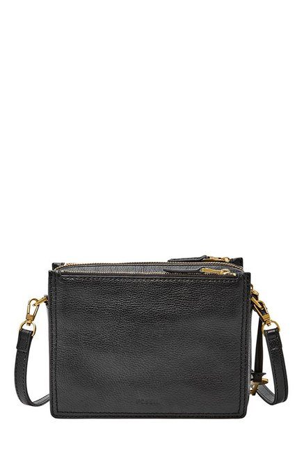 1399f60ab58 Buy Fossil Black Solid Leather Sling Bag For Women At Best Price ...