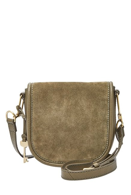 Fossil Rosemary Solid Leather Saddle Sling Bag