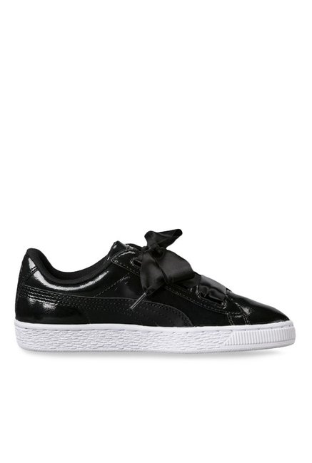 new arrival 23e59 17839 Buy Puma Basket Heart Glam Jr Black Sneakers for Girls at ...