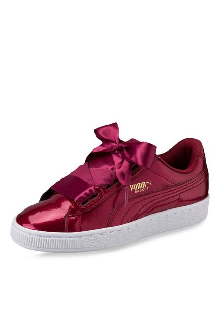 online store 54497 97f80 Buy Puma Basket Heart Glam Jr Tibetan Red Sneakers for Girls ...