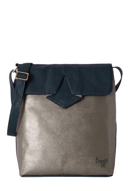 c00da04dae32 Buy Baggit L5 Cardy N Precious Pewter   Navy Flap Sling Bag For Women At  Best Price   Tata CLiQ