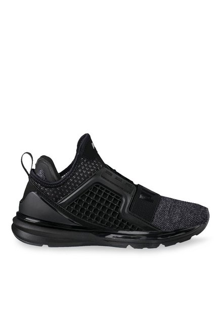 Buy Puma Ignite Limitless Knit Jr Black Running Shoes for Boys at Best  Price   Tata CLiQ cc5fb33fe