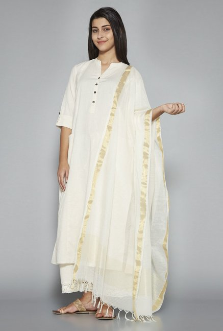 Utsa by Westside Off White Dupatta