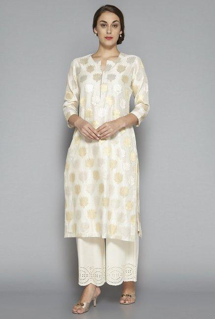 d3c85da95a3 Buy Zuba by Westside Off White Kurta for Women Online   Tata CLiQ
