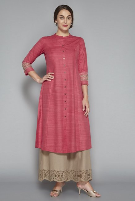 Zuba by Westside Blush Pink Kurta