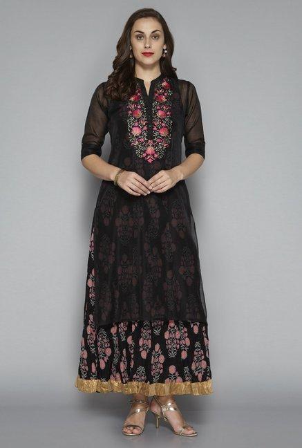 cb17af2e9c962 Buy Vark by Westside Black Ethnic Set for Women Online   Tata CLiQ