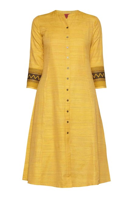 Zuba by Westside Ochre Yellow Kurta