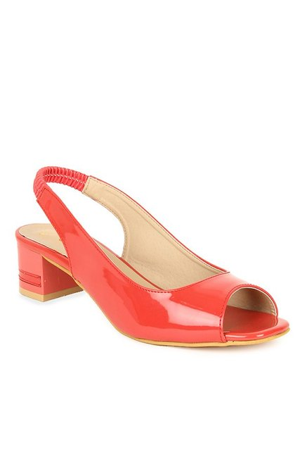 Lovely Chick Red Sling Back Sandals