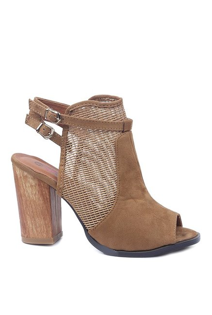 Lovely Chick Brown Back Strap Mule Sandals