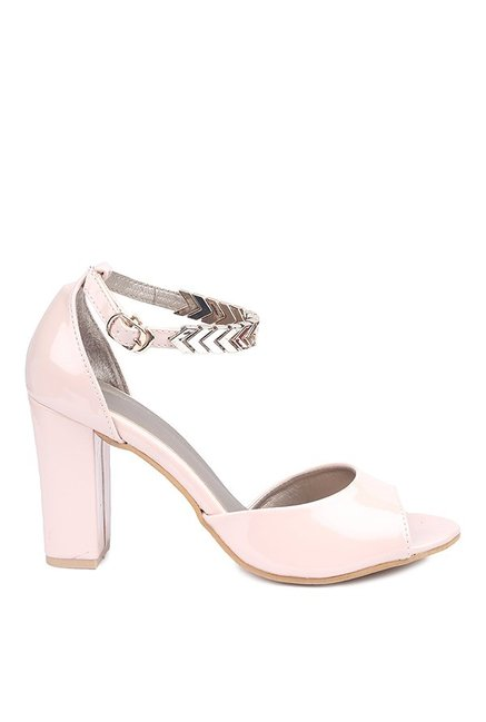 Lovely Chick Pink Ankle Strap Sandals