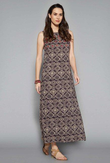 2fa9facfa270b Buy Bombay Paisley by Westside Grey Dress at Offer price on TataCliq ...