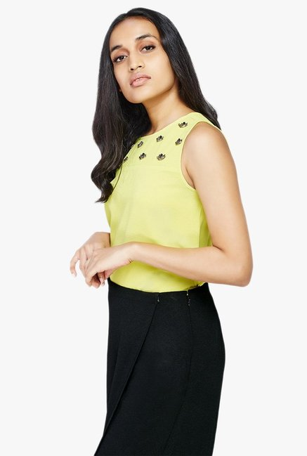 AND Lime Embellished Top