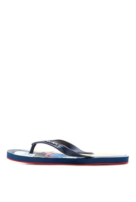 Red Tape Superman Navy & Beige Flip Flops