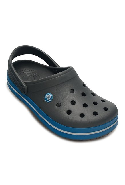 Buy Crocs Dark Grey & Blue Back Strap Clogs for Men at Best