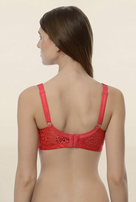 Da Intimo Red Non Wired Padded Seamless Bra