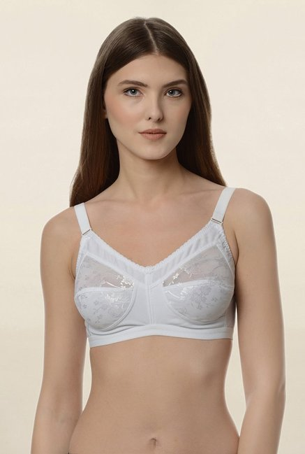 Da Intimo White Non Wired Non Padded Minimizer Bra