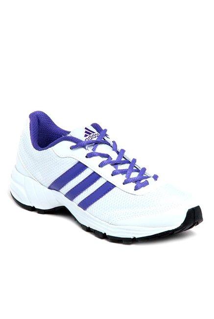 Buy Adidas Phantom White & Purple Running Shoes for Women at