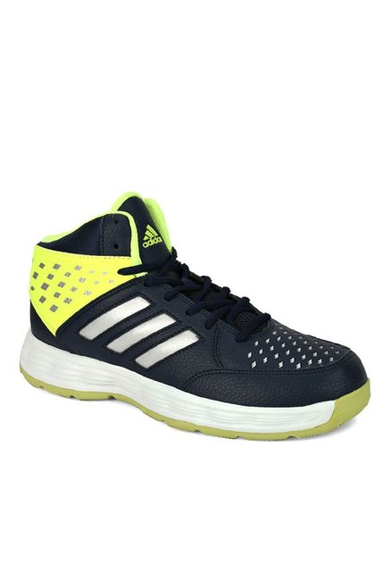 067ff571e4c1 Buy Adidas Basecut 16 Navy   Lime Yellow Basketball Shoes for Men at Best  Price   Tata CLiQ
