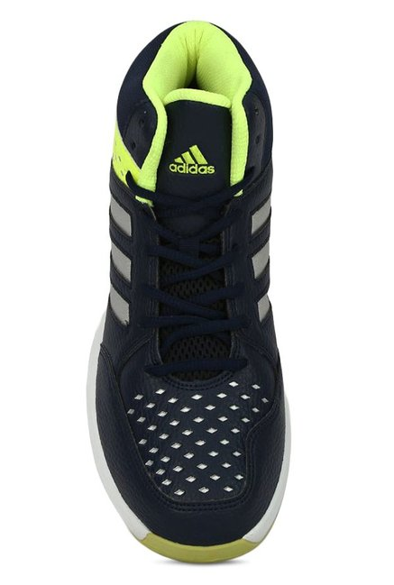 55b48e4973a Buy Adidas Basecut 16 Navy   Lime Yellow Basketball Shoes for Men at ...