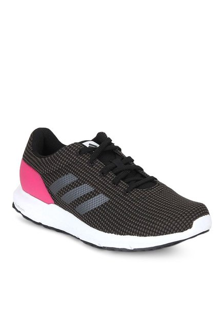 new concept 6ccf7 2049a Buy Adidas Cosmic Black & Pink Running Shoes for Women at ...