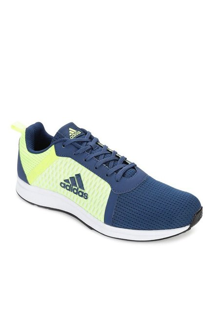 37319bbb9df Buy Adidas Erdiga 1 Navy   Lime Green Running Shoes for Men at Best Price    Tata CLiQ