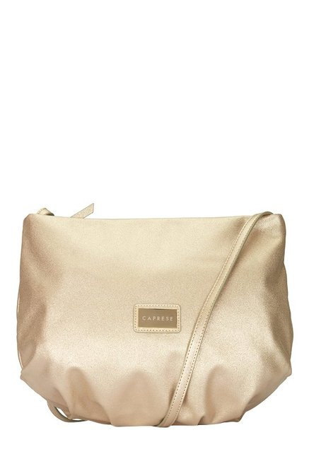 Caprese Simone Golden Solid Sling Bag
