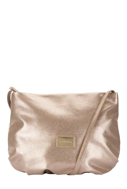 Caprese Simone Rose Gold Solid Sling Bag