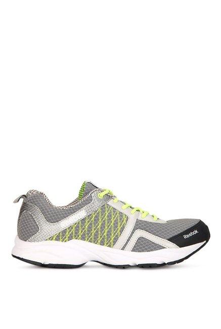 f743edac16cc74 Buy Reebok Smooth Speed Grey   Black Running Shoes for Men at Best ...