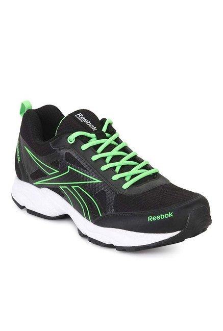 dee5f60f87732 Buy Reebok Top Runner 2.0 Q2 Black   Neon Green Running Shoes for Men at  Best Price   Tata CLiQ