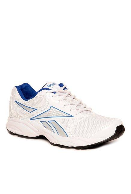 75fbf3719c01 Buy Reebok Pacific Run LP Off-White   Blue Running Shoes for Men ...