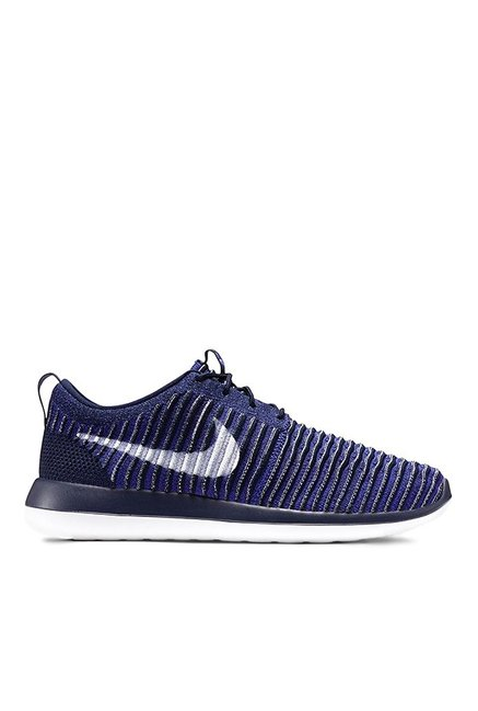 best service 509a3 3e80e Buy Nike Roshe Two Flyknit Blue & Navy Running Shoes for Men ...