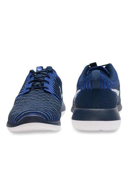 best service 936f0 b056d Buy Nike Roshe Two Flyknit Blue & Navy Running Shoes for Men ...