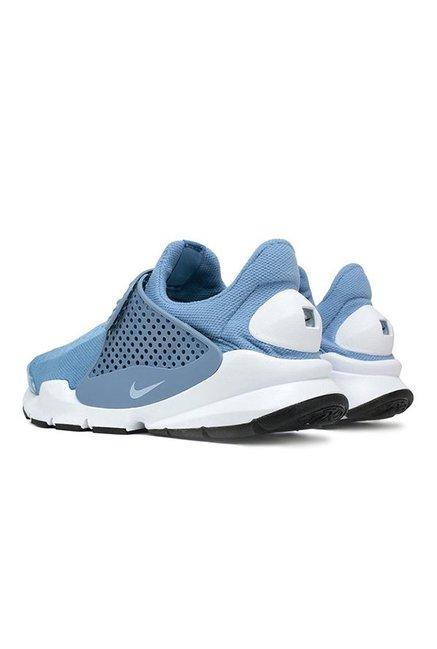 Buy Nike Sock Dart KJCRD Sky Blue   White Running Shoes for Men at ... bef85356fadc3