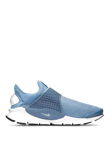 d11c7bce39cf Buy Nike Sock Dart KJCRD Sky Blue   White Running Shoes for Men at Best  Price   Tata CLiQ