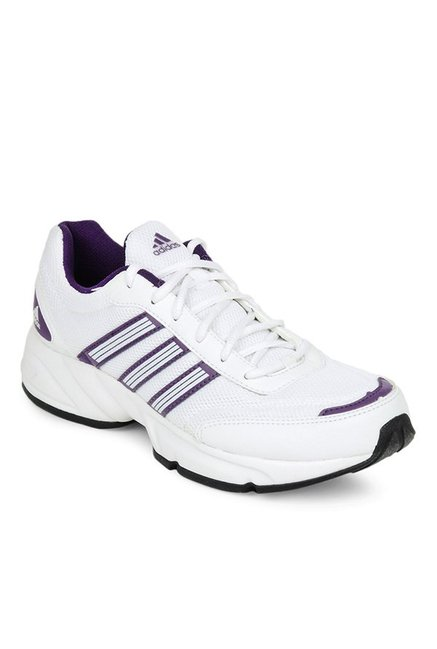 36c0e5425a8f63 Buy Adidas Alcor White   Purple Running Shoes for Women at Best Price    Tata CLiQ