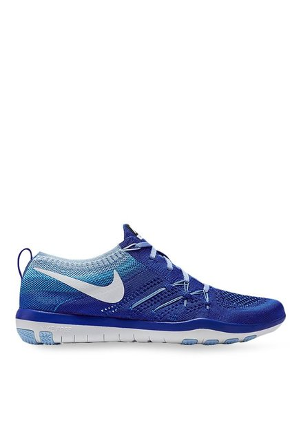 3308d208b079a Buy Nike Free TR Focus Flyknit Blue Training Shoes for Women at Best Price    Tata CLiQ