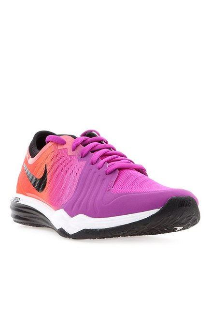 6d66a1693bee02 Buy Nike Dual Fusion TR 4 Purple   Orange Training Shoes for Women at Best  Price   Tata CLiQ