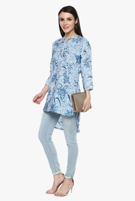 Ziyaa Blue Printed Tunic