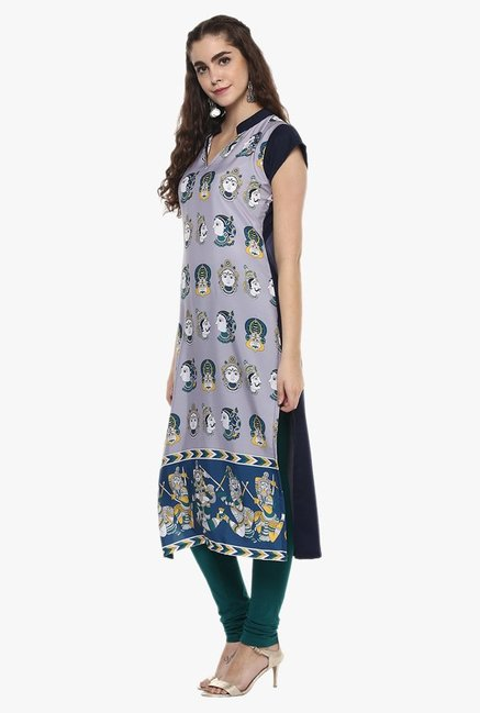 Ziyaa Purple Printed Kurta