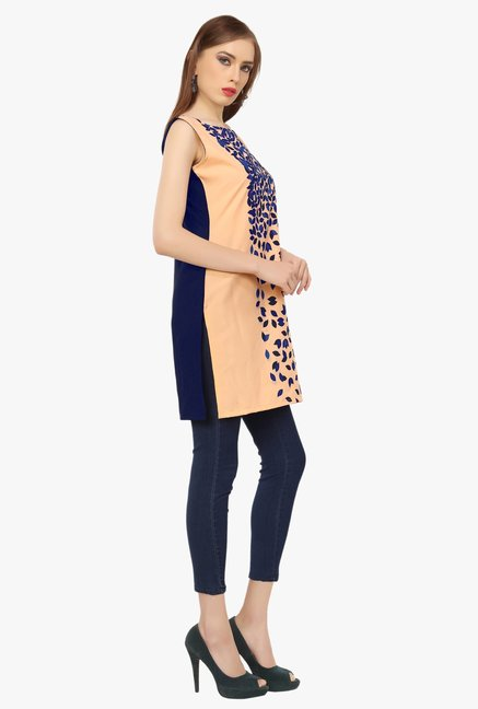 Ziyaa Peach Printed Tunic