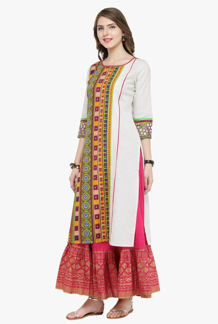 Varanga Multicolor Printed Kurta With Skirt