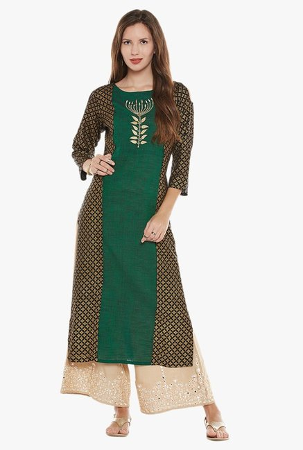 Varanga Green Embroidered Kurta