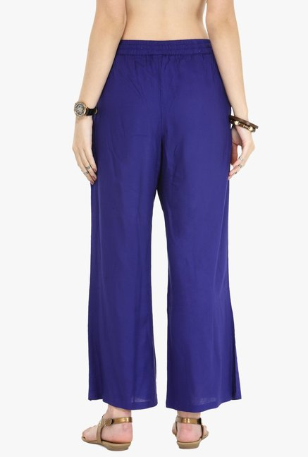 Varanga Purple Regular Fit Palazzo