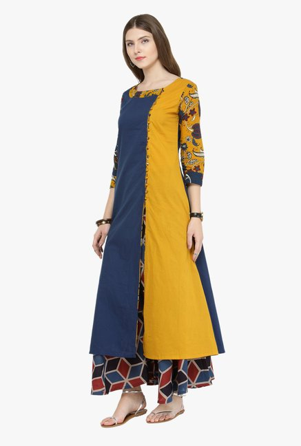 Varanga Multicolor Printed Cotton Kurta With Palazzo