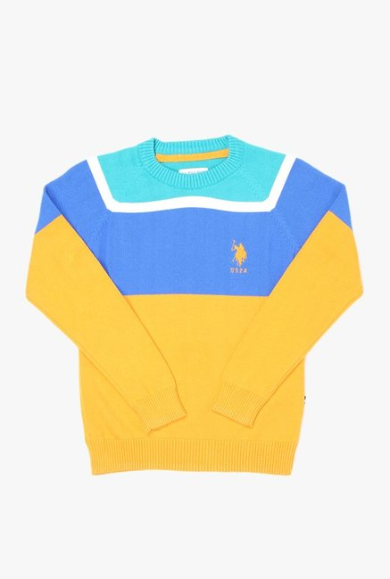 c93d7c642 Buy US Polo Multicolor Solid Sweater for Boys Clothing Online   Tata CLiQ