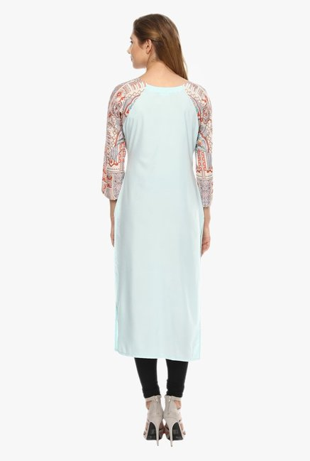 Ziyaa Light Blue Crepe Kurta