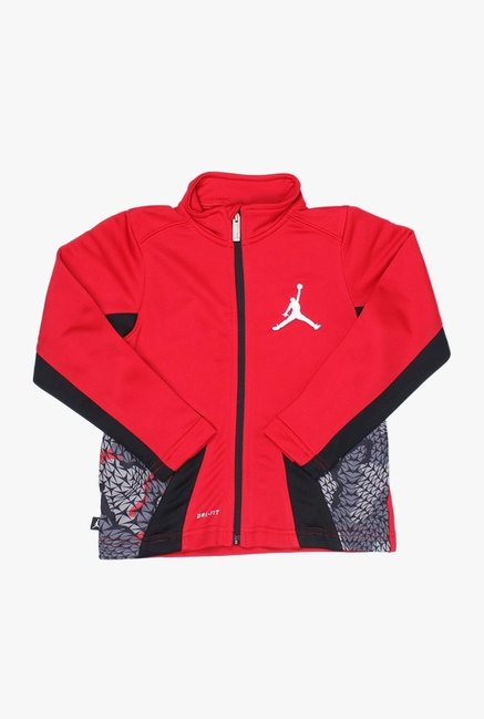 Jordan Kids Red Printed Sweatshirt