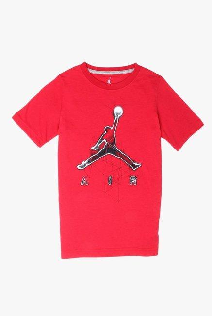 10f02917c1b1 Buy Jordan Gym Red Printed T-Shirt for Boys Clothing Online   Tata ...